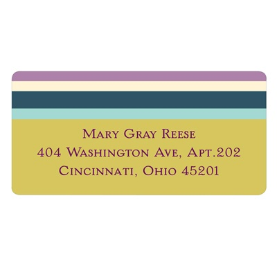 Sizeable Stripes -- Return Address Labels