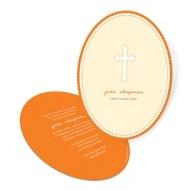 Oval Scallops First Communion Invitations