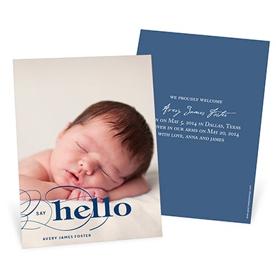 Joyful Greeting -- Photo Adoption Announcements