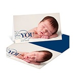 Contemporary Gratitude -- Baby Photo Thank You Cards