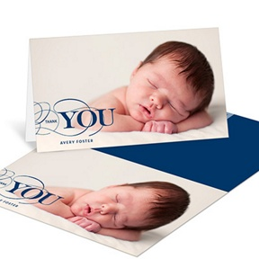 Classic Gratitude -- Baby Thank You Cards