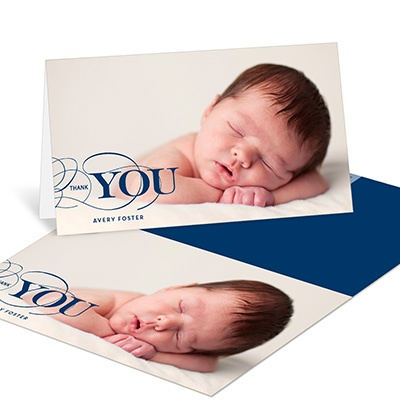 Classic Gratitude Baby Thank You Cards