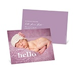 Classic Introductions -- Horizontal Photo Birth Announcements