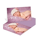 Classic Gratitude -- Baby Photo Thank You Cards