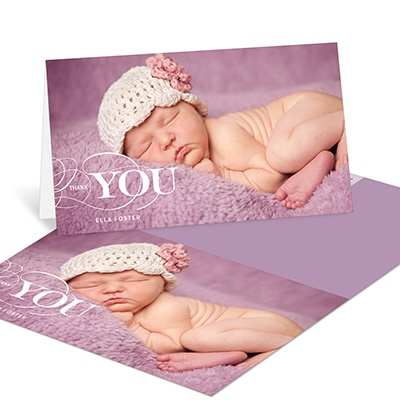 Elegant Gratitude Baby Thank You Cards