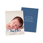 Contemporary Introductions -- Vertical Photo Birth Announcements