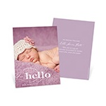 Classic Introductions -- Vertical Photo Birth Announcements