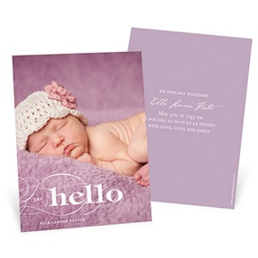 Elegant Introduction Vertical -- Birth Announcements