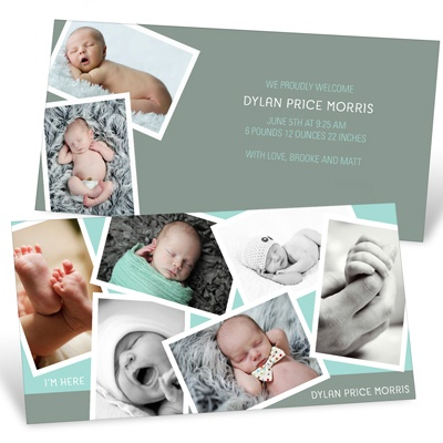 Creative Boy Collage Birth Announcements