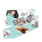 Scattered Baby Boy Moments -- Baby Photo Thank You Cards