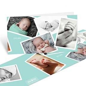 Scattered Baby Boy Moments -- Baby Thank You Cards
