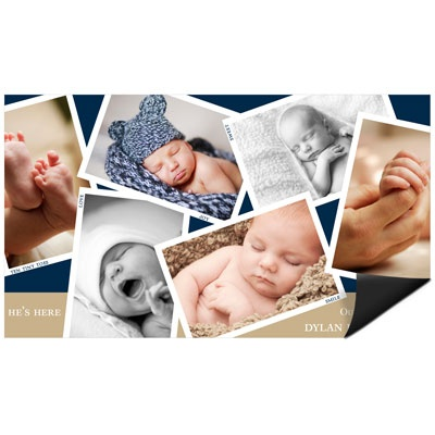 Scattered Baby Moments Magnet Photo Christmas Cards