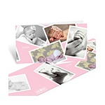 Scattered Baby Girl Moments -- Baby Photo Thank You Cards