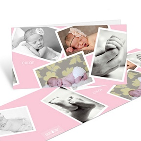 Scattered Baby Girl Moments -- Baby Thank You Cards