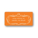 Flowing Elegance -- Monogram Address Labels