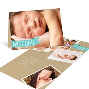 Aqua Welcome Banner -- Birth Announcements