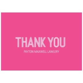 Striped Appreciation in Pink -- Baby Thank You Cards
