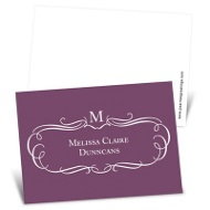 Elegant Flourish Mini Note Cards