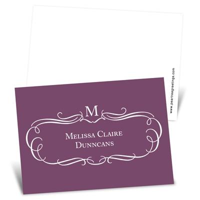 Elegant Flourish Mini Note Cards