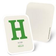 Monogram Block Mini Note Cards