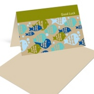 Fish Frenzy in Blue Mini Note Cards