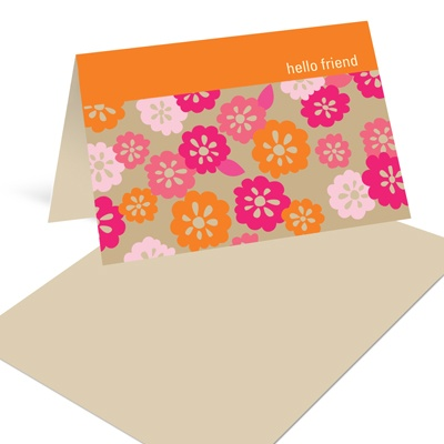 Flower Frenzy in Pink Mini Note Cards