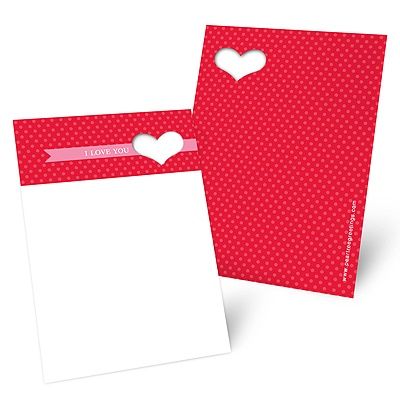 Heart Cut Out Mini Note Cards