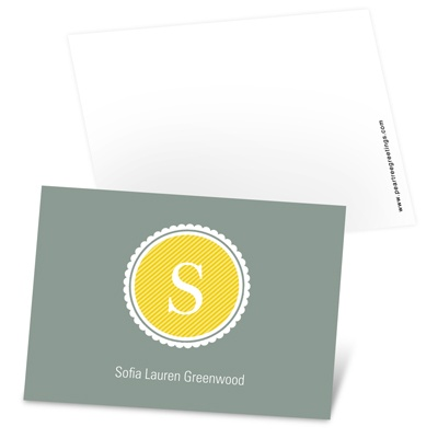 Scalloped Monogram Mini Note Cards
