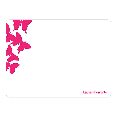 Fluttering Design Butterfly Stationery