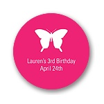 Beautiful Butterfly -- Kids Birthday Favor Stickers