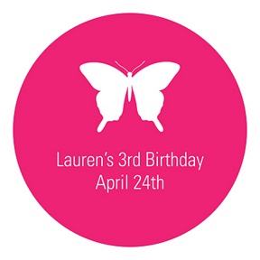 Beautiful Butterfly -- Kids Birthday Favor Stickers