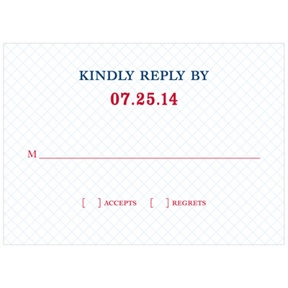 Grid Locked -- Wedding Invitation Reply Cards