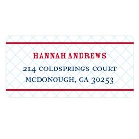 Grid Locked -- Wedding Return Address Labels