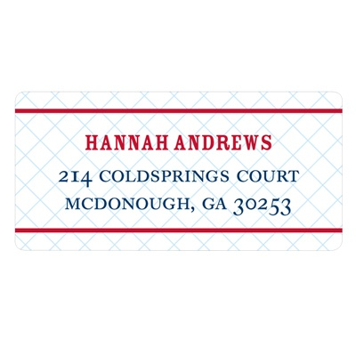 Grid Locked Wedding Return Address Labels