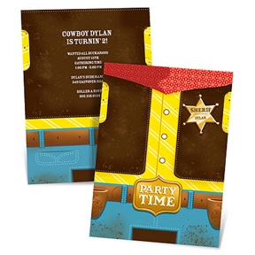 Round 'Em Up -- Cowboy Birthday Invitations