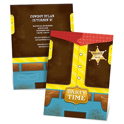 Round 'Em Up Cowboy Birthday Invitations