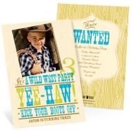 Yee-haw! -- Western Birthday Invitations in Blue