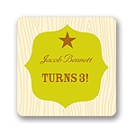 Creative Sheriff Badge -- Kids Birthday Favor Stickers