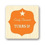Birthday Sherriff Badge -- Kids Birthday Favor Stickers