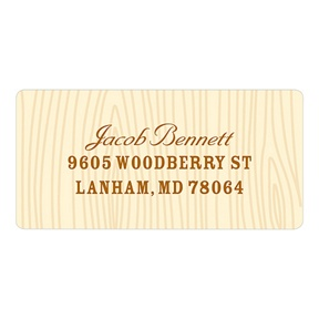 Subtle Wood Grain -- Kids Address Labels