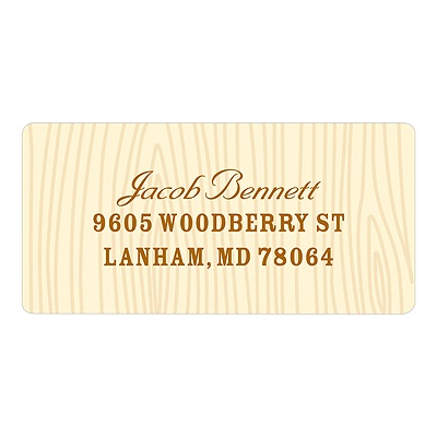 Subtle Wood Grain Kids Address Labels