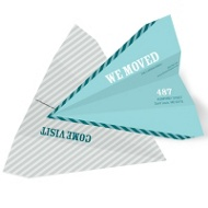 Paper Airplane Unique Moving Announcements