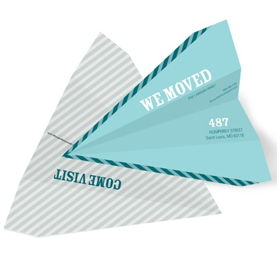 Paper Airplane -- Unique Moving Announcements