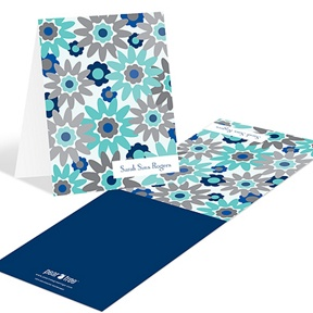 Fresh Blooms in Blue -- Floral Stationery