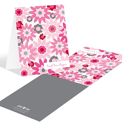 Fresh Blooms in Pink Floral Stationery