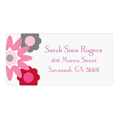 Fresh Blooms in Pink Floral Address Labels