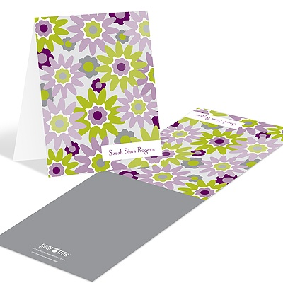 Fresh Blooms in Purple Floral Stationery