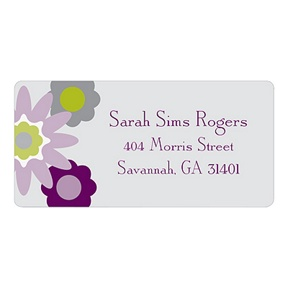 Fresh Blooms in Purple -- Floral Address Labels