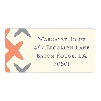 Creatively Chic in Orange -- Unique Address Labels