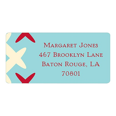 Creatively Chic in Red -- Unique Address Labels